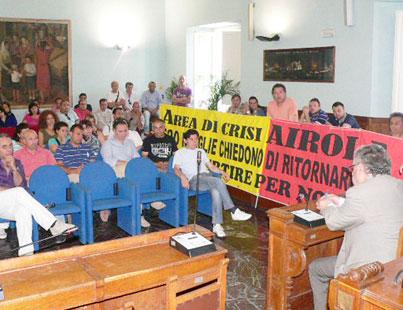 Una delegazione di lavoratori dell'ex Polo Tessile di Airola è stata ricevuta dal presidente della Provincia